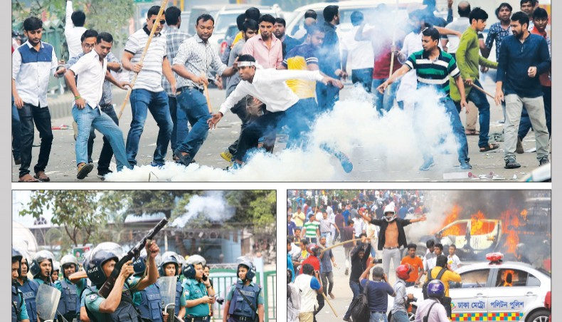 Scores injured as police, BNP activists clash